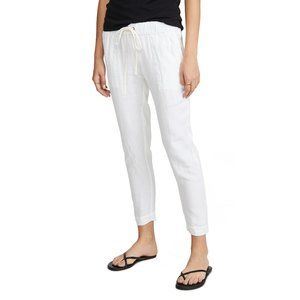 Enza Costa French Linen Drawstring Pant S